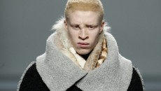 US model Shaun Ross presents a creation by Spanish label Etxeberria during the Mercedes Benz Fashion Week Madrid Fall/Winter 2013-2014, in Madrid, Spain, 21 February 2013. The 57th Madrid Fashion Week runs from 18 to 22 February. EPA/J.J. GUILLEN