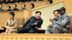 Dennis Rodman in north Korea with Kim Jong Un